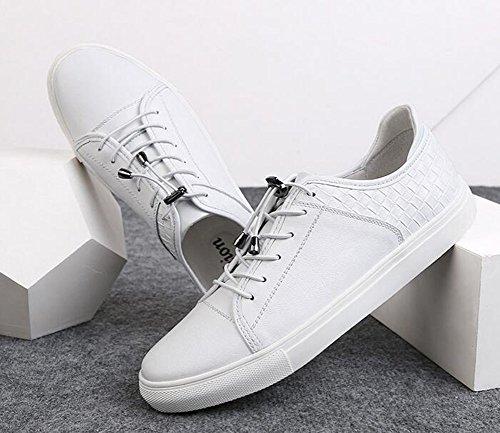 HUAN Couples Chaussures Unisexe Deck Shoes Hommes Casual Chaussures Femmes Chaussures de Course en Plein Air Exercice Sneakers Blanc