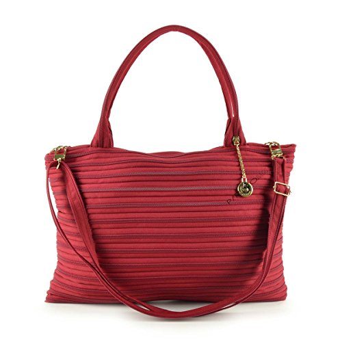 GHOSTZIP® Made in Italy, Borsa a tracolla donna Rosso