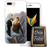 dessana Beste Freundin Handyhülle Personalisiertes Geschenk dünne Silikon TPU Case Eigenes Foto Motiv für Apple iPhone 8 Plus Ohne Text
