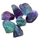 AITELEI 100g natürliche Fluorit Edelstein Quarz Kristall Stein Ornament Original Stein roh für Cabbing,...