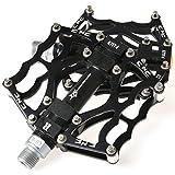 "RockBros Fahrradpedale 9/16"" MTB BMX DH Platform Pedale Ultralleicht Aluminum (Schwarz)"