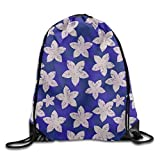 Drempad Tunnelzug Rucksäcke, Drawstring Bag Drawstring Gym Backpack Bag Flowers Pattern Waterproof...
