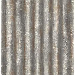 """BHF fd22333en acier ondulé recyclé en métal"""""""" Papier peint-Gris anthracite"""