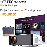 [Wireless Projector] EDGE LE7 PRO 4500 Lumens LED Portable Video Projector with 170' Display, DLNA ,WIFI,Suppo