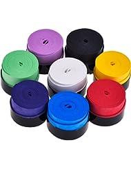 8 Stück Tennis Griffband Badminton Schläger Overgrip für Anti Slip und Saugfähigen Griff, Sortierte Farbe