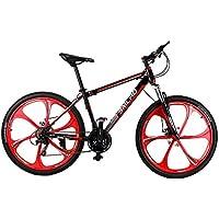 MaMaison007 26 x 17 pollici Mountain Bike 21 velocità alto carbonio acciaio telaio smorzamento Bike Ciclismo bicicletta-nero &