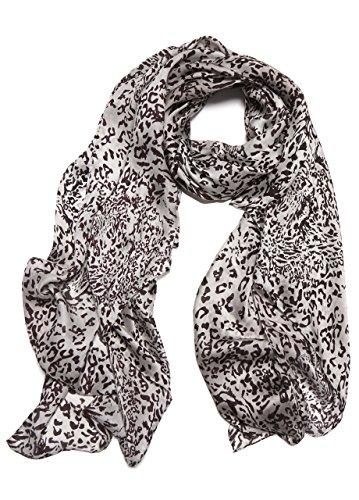 LEOPARD PRINT Sciarpa Fashion da Designer Lunga Stampata da Donna