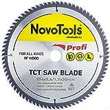 NOVOTOOLS TCT Lame de scie circulaire à bois 254 x 30 mm x 80 dents pour scies Festool, Bosch, Makita, DeWalt etc.