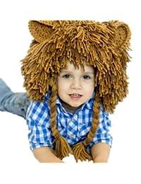 dc2cd7e1d97 Bigood Bonnet Ski Bébé Enfant Déguisement Lion Chapeau Oreille ...