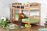 Etagenbett Lukas Light : Triple sleeper lukas light with angled ladder solid beech wood