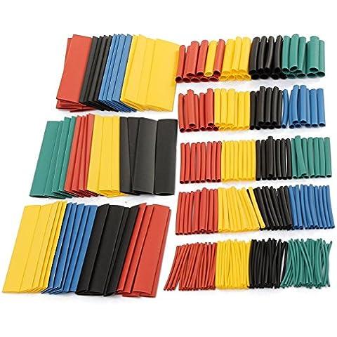 SOLOOP Conjunto de 328 Piezas de Poliolefina Tubo Termorretráctil 2:1 Libre de Halógeno Tubo Sleeving 8 Tamaño