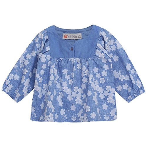 FS Mini Klub Girls Woven top with All Over Print
