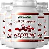 Krill oil capsules 450, 100% pure NEPTUNE premium krill oil - Omega 3,6,9 astaxanthin, phospholipids, choline, vitamin E - Brand quality by MoriVeda (5x90)