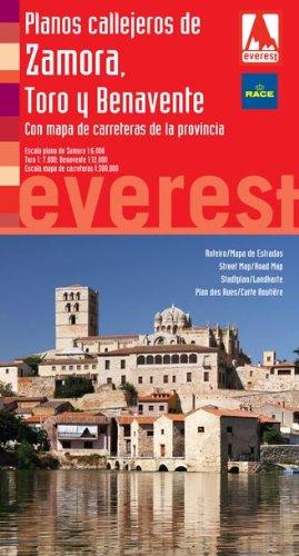 Planos callejeros de Zamora, Toro y Benavente con mapa de carreteras provincial (Planos callejeros/serie roja)