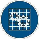 Gebotszeichen - Absperrung prüfen - Kunststoff Selbstklebend - 20 cm