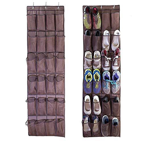 Hängeregal für Schuhe über Dem tür Schuh Organizer Hänge Hängender Stoffschrank Aufbewahrungstaschen für Tür Oder Wand Platzsparend Für Büro Badezimmer Kinderzimmer und Kleiderschränke
