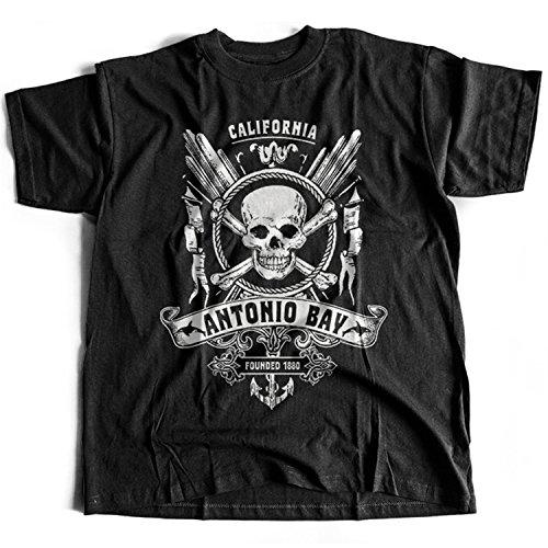 Flamentina 9285 Antonio Bay Mens T-Shirt The Fog KAB Radio 1340 John Carpenter Thing Horror 80s