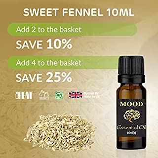 Essential Oils 10ml Pure & Natural Aromatherapy - Choose Fragrance (Fennel Sweet)