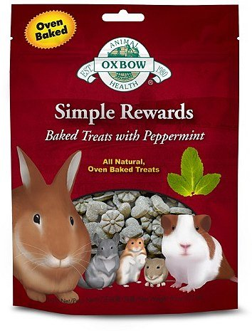 OXBOW Animal Health Simple Reward Peppermint Oven Baked Fiber Rich Pet Treats 2z
