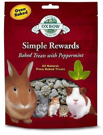 OXBOW Animal Health Simple Reward Peppermint Oven Baked Fiber Rich Pet Treats 2z