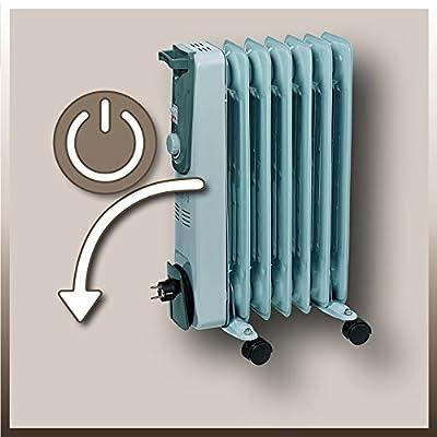 Einhell Elektro Heizung Ölradiator MR 715/2 (1500 Watt, 3 Heizstufen, Thermostat, 4 Lenkrollen, praktische Kabelaufwicklung, integrierter Griff) von Einhell - Heizstrahler Onlineshop