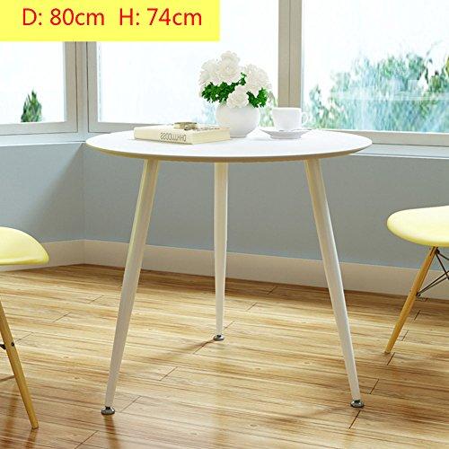 D&l pvc impermeabile tavolino da salotto,tondo tavolini bassi moderna semplice divano tavolino creatività tavolino da caffè tavolino da telefono-bianca 80x74cm