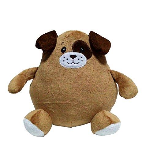 ENESCO 643464Spardose Plüschtier Hund, Polyester Mehrfarbig 20x 10x 20cm
