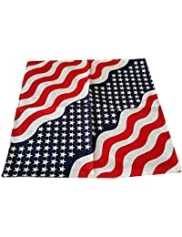 USA Stars and Stripes Bandana / Bandanna Made from 100% Cotton (55cm x 55cm)