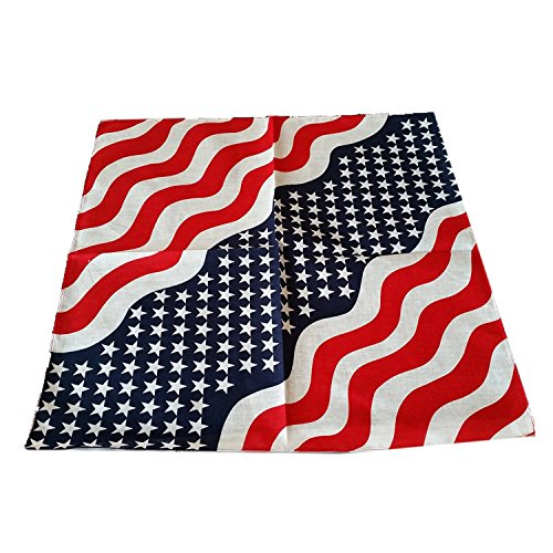USA Bandana 55 cm x 55 cm (ca.) 100% reine Baumwolle (Ideen Up Original-dress)