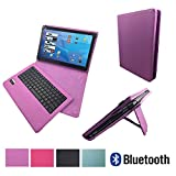 Bluetooth Tastatur Case für MEDION LIFETAB X10607 MD 60658 Tablet Hülle Keyboard - Bluetooth Tastatur Lila 10.1 Zoll