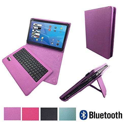 "ACEPAD A96 10 Zoll (9.6"") Bluetooth QWERTZ Tastatur Hülle Keyboard Case Etui - Bluetooth Tastatur Lila 9.7 Zoll"