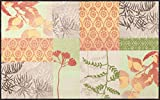 Salonloewe Fußmatte Feel Good waschbare Schmutzmatte Floral, Größe:75 x 120 cm