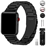 Fullmosa Kompatibel Apple Watch Armband 42mm(44mm Series 4), Rostfreier Edelstahl Watch Ersatzband für iWatch/Apple Watch Series 4/3/2/1, 42mm(44mm) Schwarz