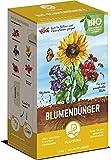 Plantura Bio Blumendünger Langzeitwirkung | für eine prächtige Blüte | 100% tierfrei & Bio-Zertifiziert | gut für den Boden | unbedenklich für Haus- & Gartentiere | Naturdünger | 1,5 kg | NPK 4-2-7
