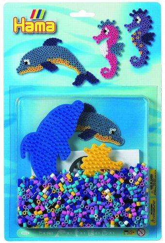Hama Toys - Blíster delfín y caballito del mar de 1100 piezas (4083)
