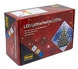 Idena 8325066 - LED Lichterkette mit 200 LED in warm weiß, mit 8 Stunden Timer Funktion, Innen und Außenbereich, für Par