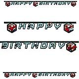 1Happy Birthday Banner * Ultimate Spiderman * Cumpleaños para niños//Fiesta Cadena temática Web Warriors Super Held Spider Man