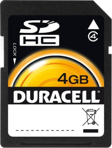 Duracell SD HC Flash Memory 4 GB -