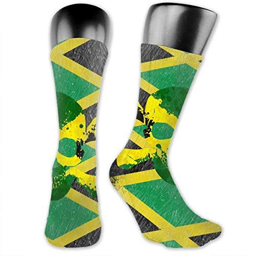 Antibacterial Retro Jamaica Skull Flag Jamaica Pride Unisex Crew Athletic Compression Elastic Socks Art Ankle Stockings Breathable Running Socks Soccer Socks Ankle Socks -