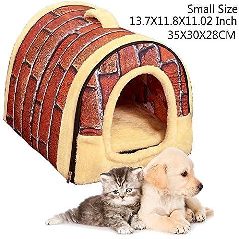 Hund Sofa Bett Crate Nest Haus Soft Komfortable Indoor gefaltet
