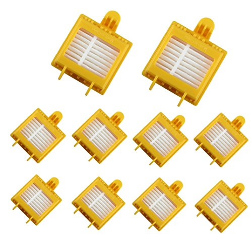 Ultra Air Ersatz-filter (für irobot roomba 700 Series 760 770 780 790 Ersatzteile, FEITONG 10Pcs Filter)