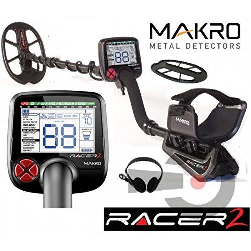 Makro Racer II Metalldetektor mit 5Einstellungen, Kopfhörer