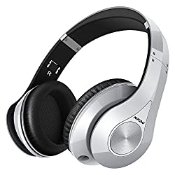 Mpow Bluetooth Headphones Wireless Over Ear Headphones, [High Quanlity] Soft Earmuffs Foldable Wireless Headphones, Built-in Microphone For Mobile Phone Tv Pc Laptop, Silver
