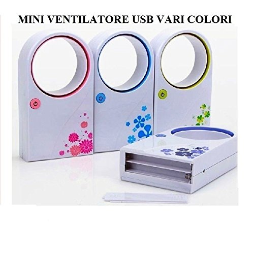 MINI VENTILATORE USB SENZA PALE VENTOLE BLADELESS FAN PC AUTO NOTEBOOK
