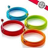 Nuovo anello per uovo, anelli per uova in silicone antiaderente, anelli per cottura uova, anelli per frittella o per frittella (4 pezzi)