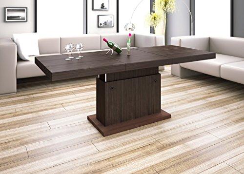 Design Couchtisch H-333 Walnuss / Wenge höhenverstellbar ausziehbar Tisch