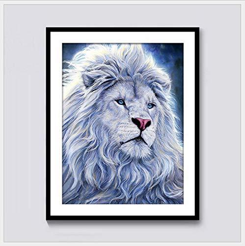 Preisvergleich Produktbild XQWZM Diamant Malerei Tier Serie Wohnzimmer Dekorative Malerei Löwe Gips Bohrer Großhandel,  50X65 cm