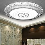 MYHOO 72W Kaltweiß LED Kristall Deckenleuchte Deckenbeleuchtung Badleuchte Wohnzimmer Schlafzimmer Deckenlampe Rund [Energieeffizienzklasse: A+]