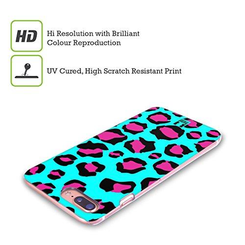 Head Case Designs Giraffa Ciano Stampe Pazze Cover Retro Rigida per Apple iPhone X Leopardo Ciano