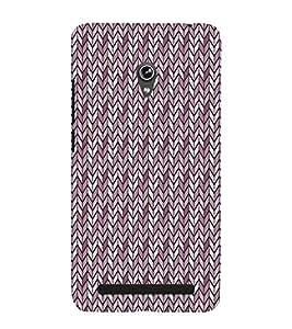 Fiobs Designer Back Case Cover for Asus Zenfone 6 A600CG (Multicolor Line Ethnic Design)